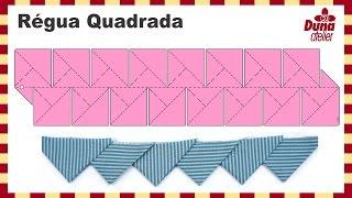 Régua Quadrada Para Barrados: Biquinhos e Dobraduras | Duna Atelier