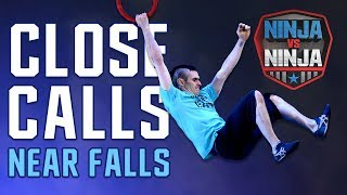 Best Runs: Close Calls Near Falls | American Ninja Warrior: Ninja Vs. Ninja