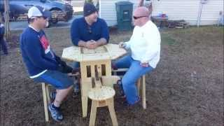 Cool Transforming Tables! Folding Patio Table.