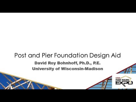 Post and Pier Foundation Design Aid