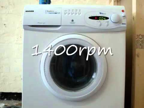 hoover quattro powerjet ae140 washing machine fast spin 'SP4' 1400rpm with broken drum bea