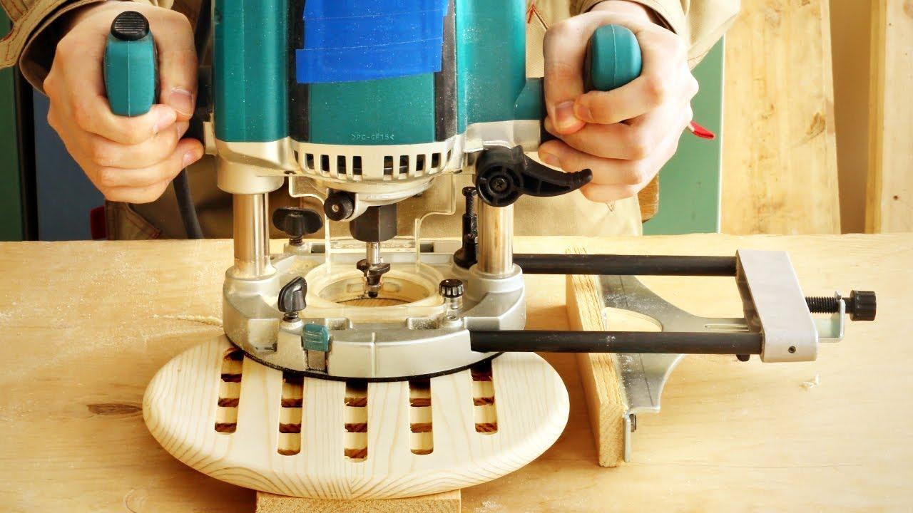 Фрезерование пазов в круглой подставке, milling grooves in a round board