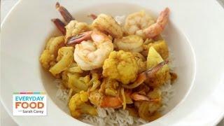 Curried Shrimp and Cauliflower