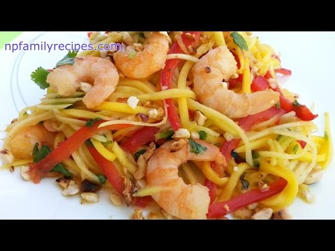 Spicy Thai Shrimp Mango Salad (Gỏi Xoài Tôm Thái Lan) - NPFamily Recipes