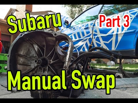 Subaru Manual Swap - Part 3: Auto trans Removal  - Dirtcheapdaily : Ep.25