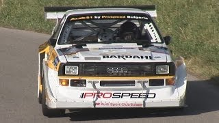 hillclimb monster audi quattro s1 group b with 770 hp awesome loud sound amazing speed