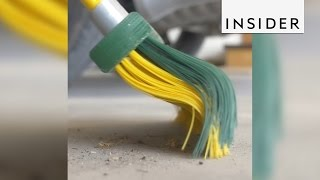 Curved brooms can sweep up just about anything