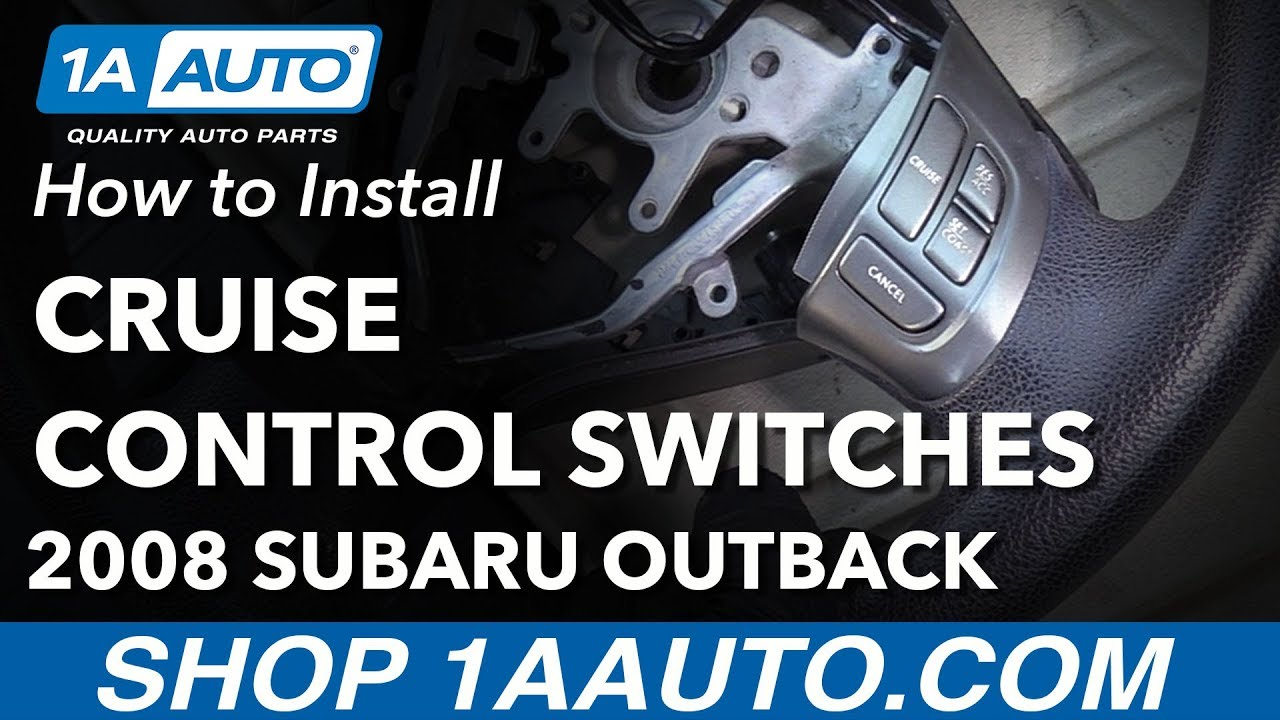 how to replace cruise control switches 04-09 subaru outback