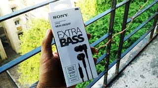 Sony MDR XB50AP Extra Bass Earphones Unboxing & Overview