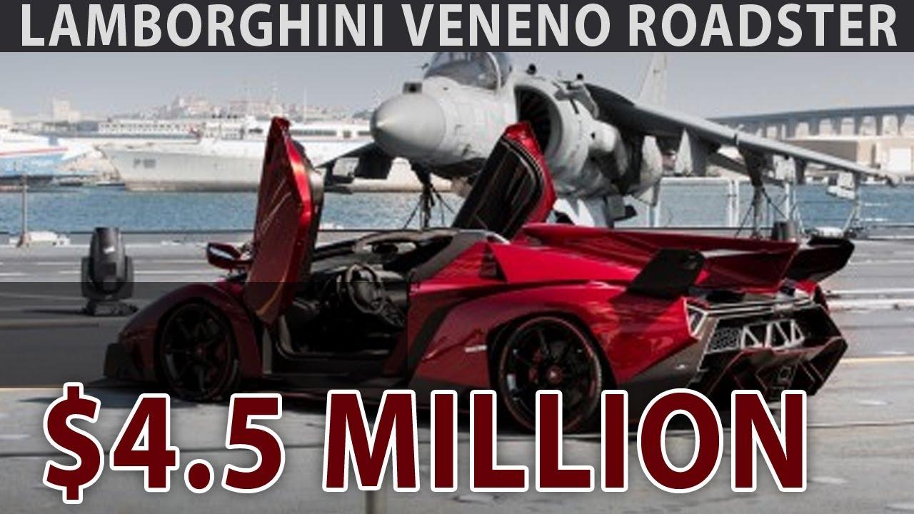4 5 Million Dollar Lamborghini Veneno Roadster Unveiled