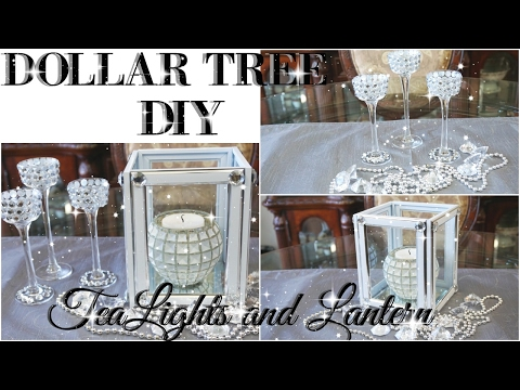 DIY DOLLAR TREE BLING TEALIGHT HOLDER AND LANTERN DECOR | PETALISBLESS🌹