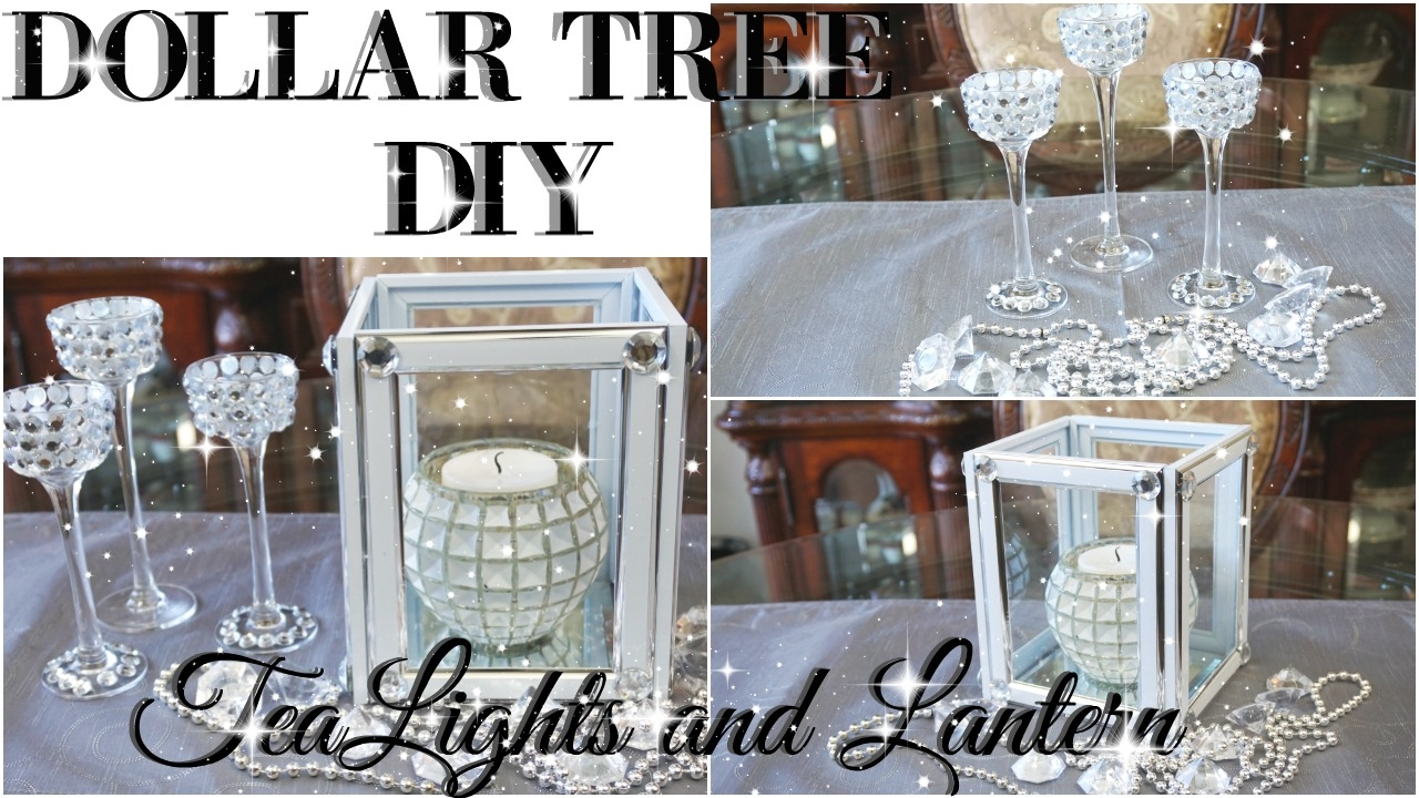 Diy Dollar Tree Bling Tealight Holder And Lantern Decor