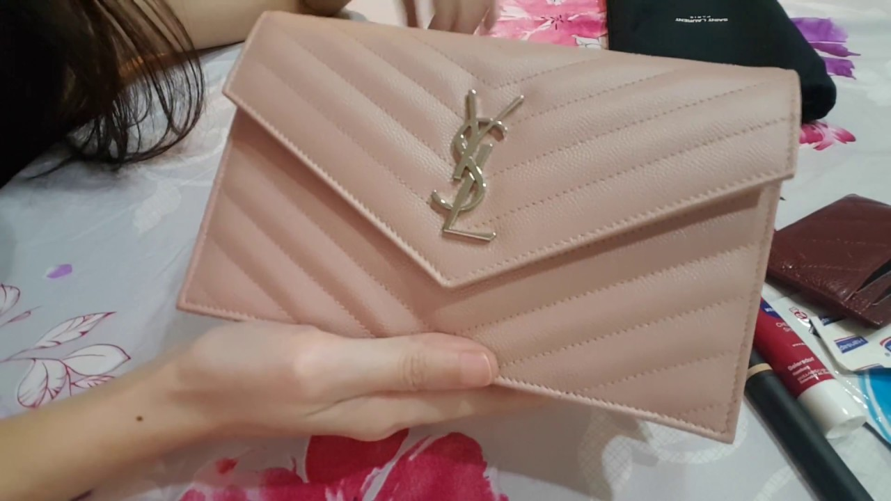 10efa863d3c Ysl saint laurent MONOGRAM ENVELOPE CHAIN wallet on chain WOC small review  & first impression & WIMB