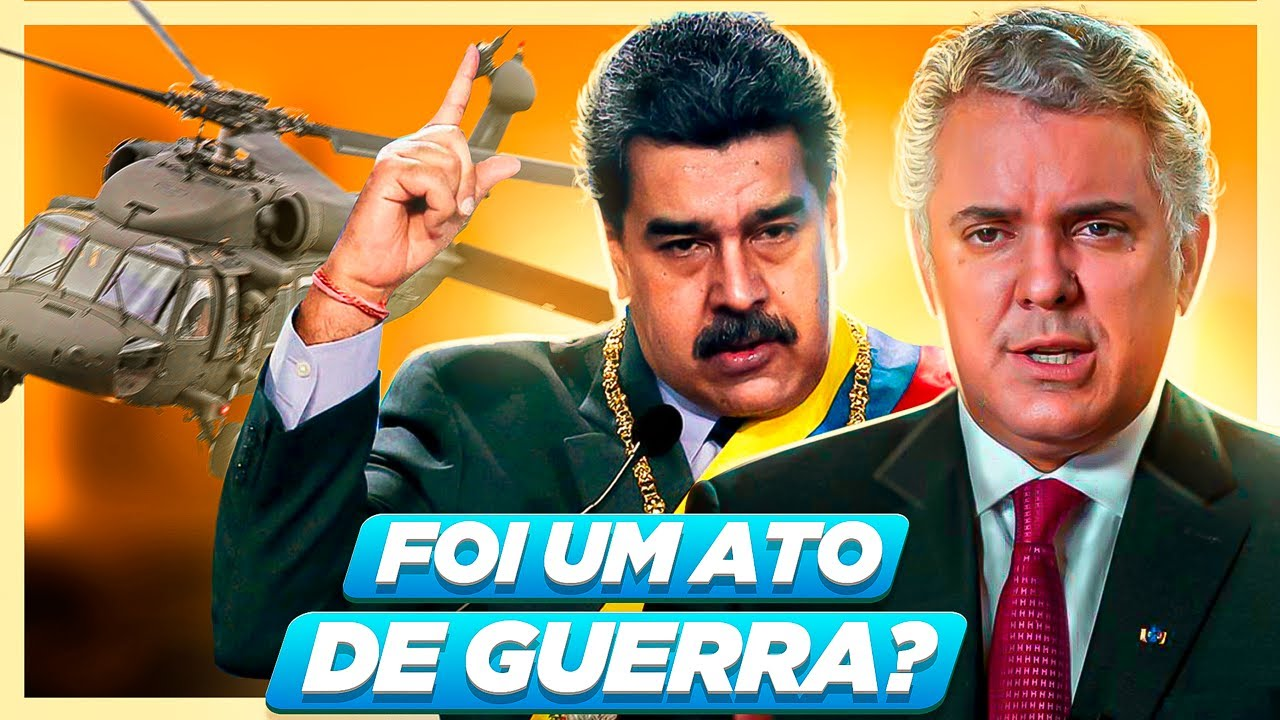 ATAQUE contra HELICÓPTERO do presidente da Colômbia na FRONTEIRA com VENEZUELA (Felipe Dideus)