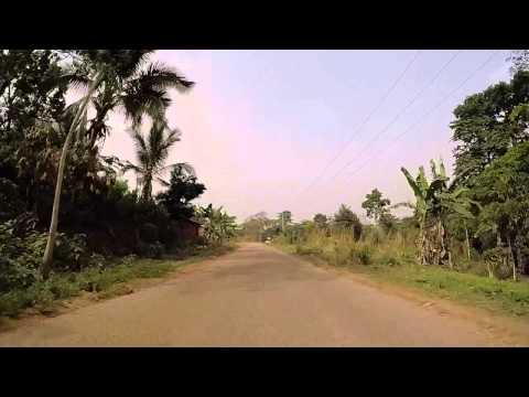Togo Route vers Badou filmée en Gopro / Togo Road to Badou, Gopro