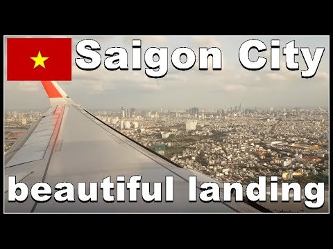 Ho Chi Minh City Airport - Arriving at Tan Son Nhat International Airport in Vietnam 2017, VietJet