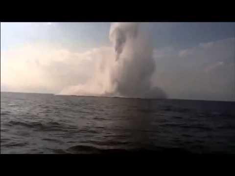 What a sea mine explosion looks like