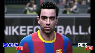 PES 2011 vs FIFA 11 Faces comparison ! PC versions highest  graphics [HD]