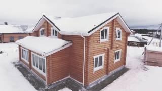 Видеотзыв - Дом на две семьи из оцилиндрованного бревна.
