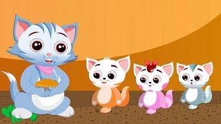 Три маленьких котята | Котята рифма для детей | потешки для детей | Three Little Kittens Rhyme