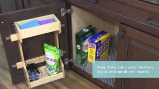 Medallion Cabinetry: Installed Sink Base Door Organizer, Kitchen Storage Part 5