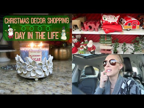 Christmas Decor Shopping//Package From Scotland//Day in the Life of a Stay at Home Mom//
