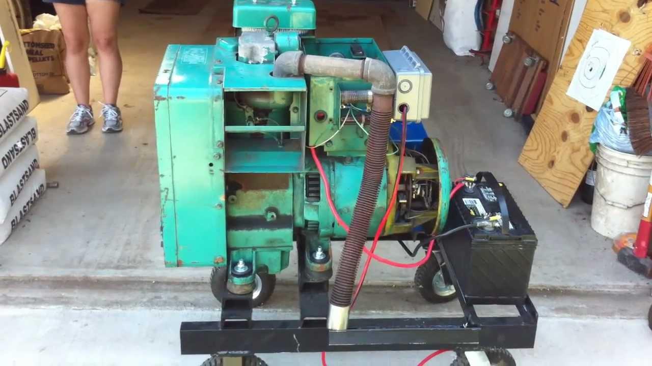 Wiring Diagram Motor Onan 3kw Diesel Youtube