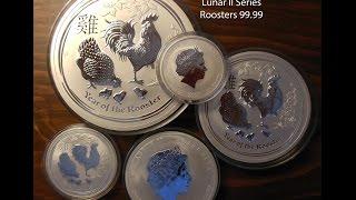 Australian 2017 Lunar II Series Silver 9999 Rooster Set