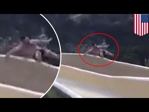 Texas man falls off water slide onto rocky cliff, makes viral video - TomoNews