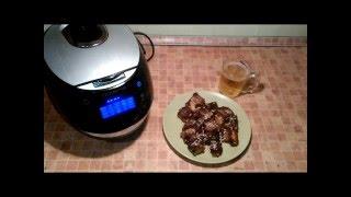 Домашние видео рецепты - пикантные свиные ребрышки в мультиварке