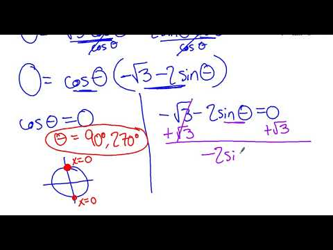 13.5: Solve trig equations using double angle identities