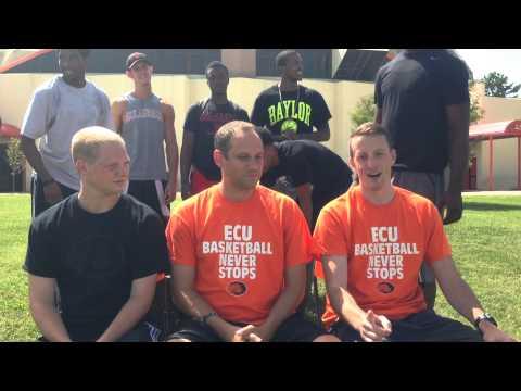 ECU Men's Basketball Coaching Staff ALS Ice Bucket Challenge