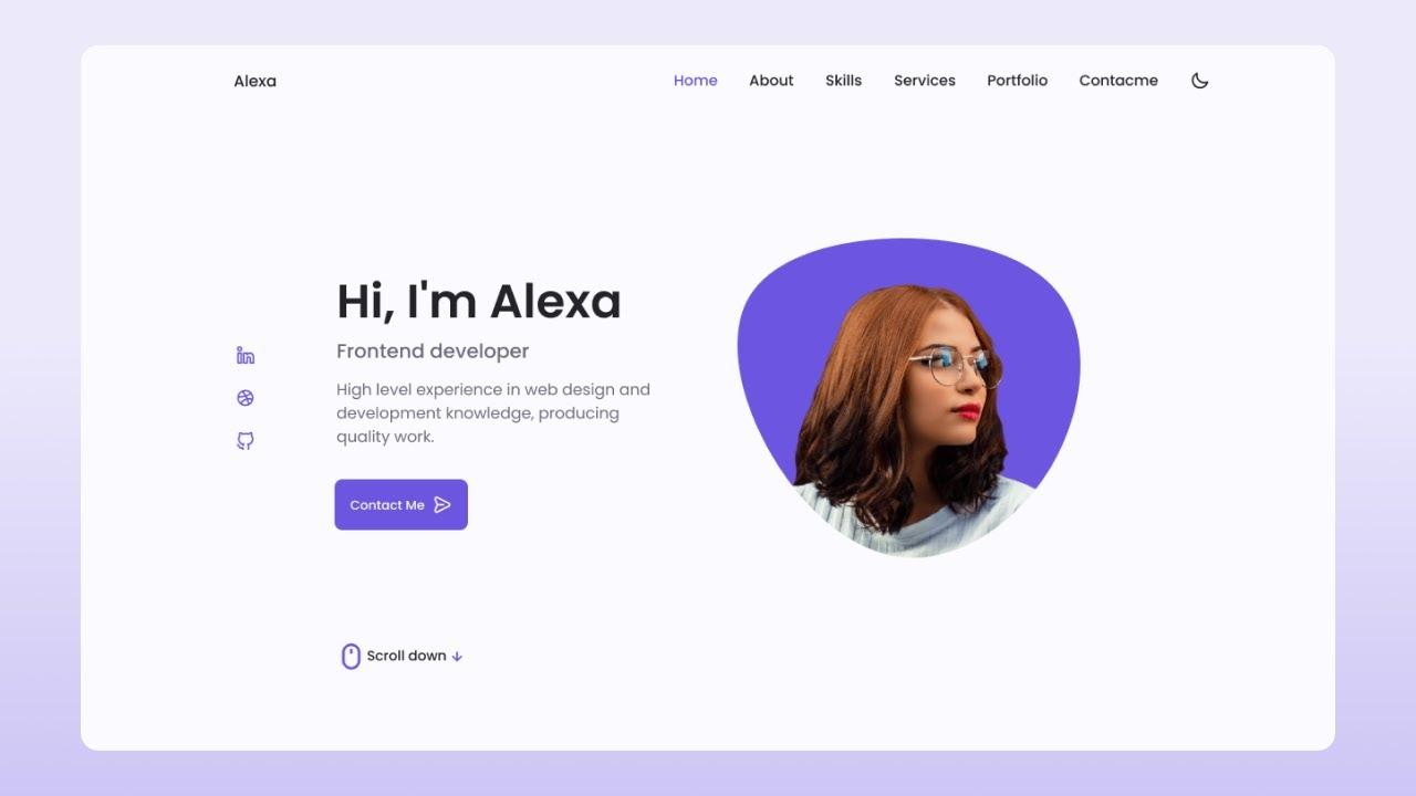 Responsive Personal Portfolio Website Using HTML CSS And JavaScript   Dark/Light Mode