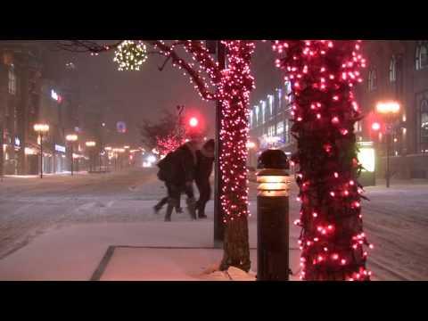 Snowfall Montreal