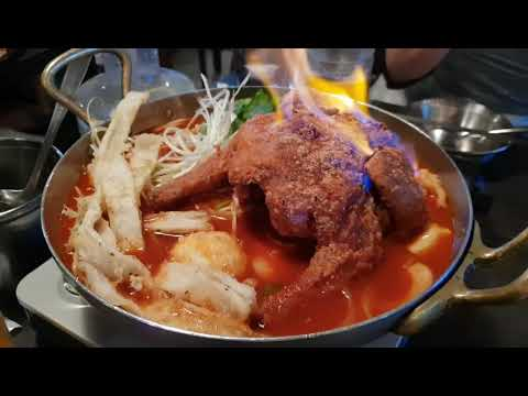 불타는통닭 즉석떡볶이/stir-fried chicken tteobokki/korean food