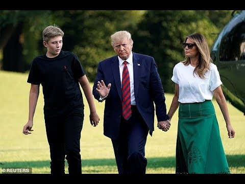 Barron Trump arrives Joint Base Andrews.