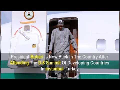 Buhari Returns To Nigeria After Four-Day Visit To Turkey
