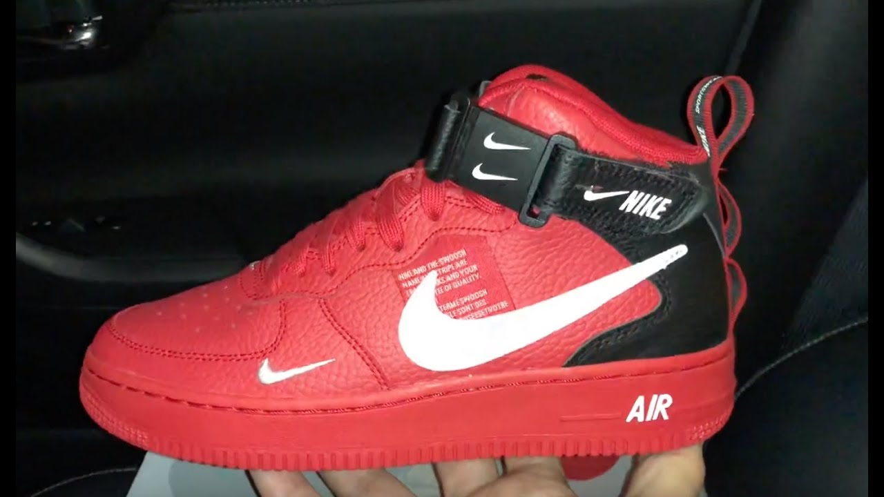 meet b9c0f 72980 Nike Air Force 1 Mid Lv8 Red sneaker