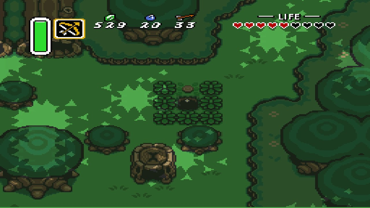 Lost Woods piece of heart location - Zelda: A Link to the Past