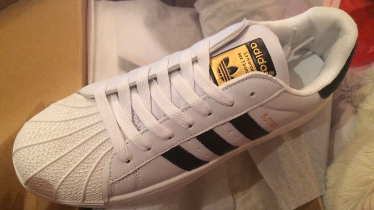 9dd762ea85e0 HOW TO SPOT FAKE ADIDAS SUPERSTAR ORIGINALS SHOES - YouTube