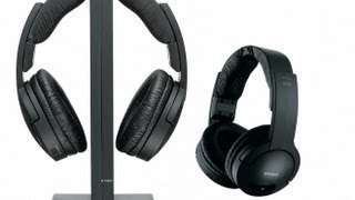 sony MDR-RF865RK Wireless Headphones Unboxing - Black - HD