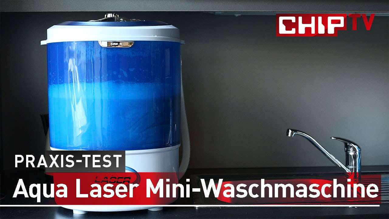 Aqua laser mini waschmaschine review deutsch chip youtube