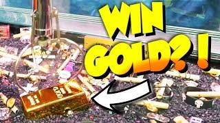 YOU CAN WIN A GOLD BAR FROM THIS CLAW MACHINE! || Arcade Games