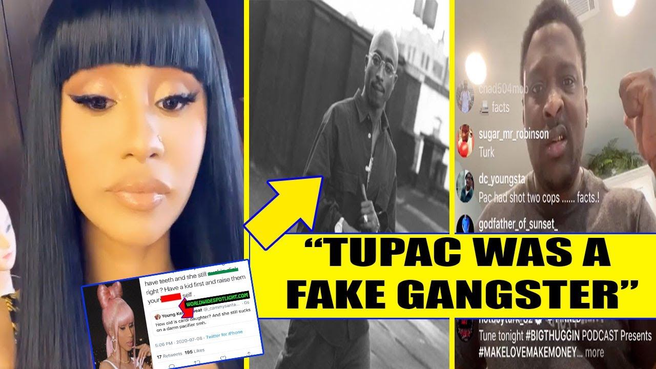 Cardi B's Daughter was DISRESPECTED, Cardi RESPONDS + Turk said Tupac was a FAKE Gangster