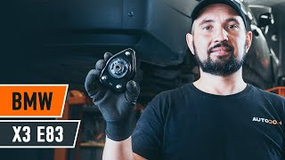 Montera Fjäderbenslagring bak och fram BMW X3 (E83): gratis video