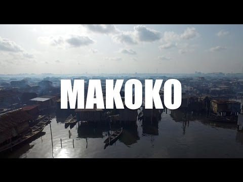 Drone flight over Makoko 'slum' in Lagos