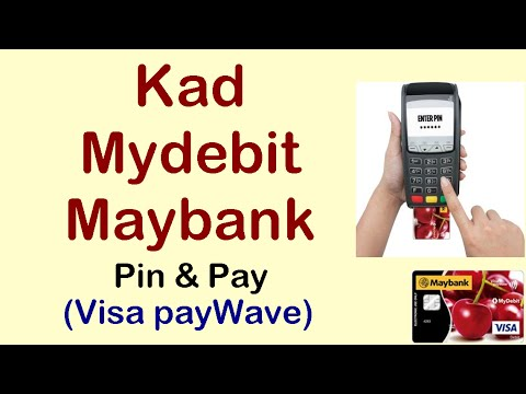 Kad Mydebit Maybank Pin & Pay (Visa payWave)