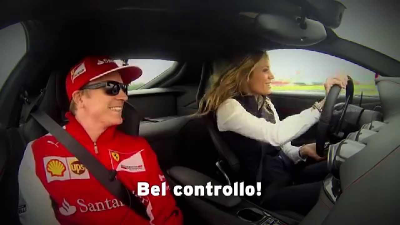Un Giro In Ferrari Con Kimi Raikkonen Youtube