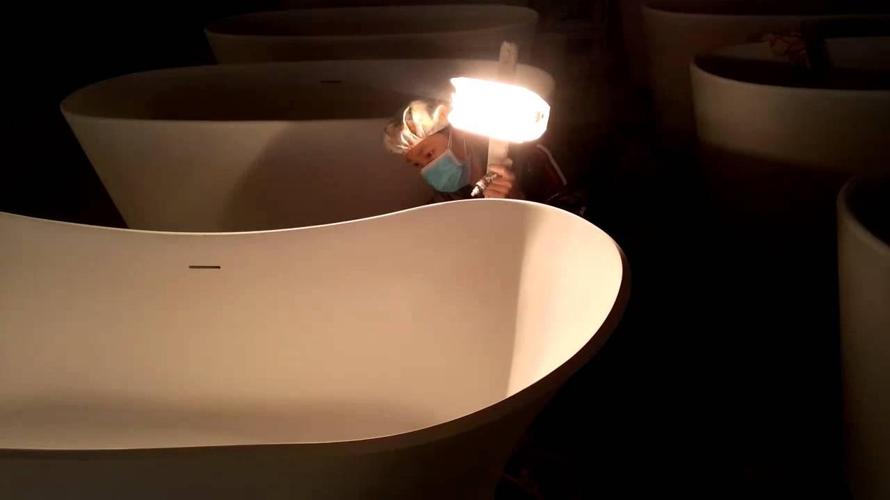 solid surface FREESTANDING BATHTUB from Jingzun :http://jingzun-bath ...