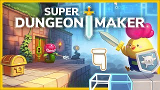 Join our weary adventurer Fink as they attempt to clear a couple of dungeons in Super Dungeon Maker.